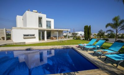 Вилла ДЗЕН в Протарасе с 2 спальнями и огромным бассейном панорамным видом на море